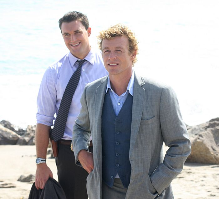 The Mentalist Simon Baker, right, with Owain Yeoman