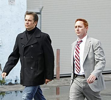 """Baltimore"" - After Tony's (Michael Weatherly, left) ex-partner, Danny Price (guest star Scott Grimes, right), appears to be the Port-to-Port Killer's latest victim, he revisits his days as a detective in Baltimore, including his first encounter with Gibbs, on NCIS, Tuesday, May 3 (8:00-9:00 PM, ET/PT) on the CBS Television Network. Photo: Monty Brinton/CBS ©2011 CBS Broadcasting Inc. All Rights Reserved"