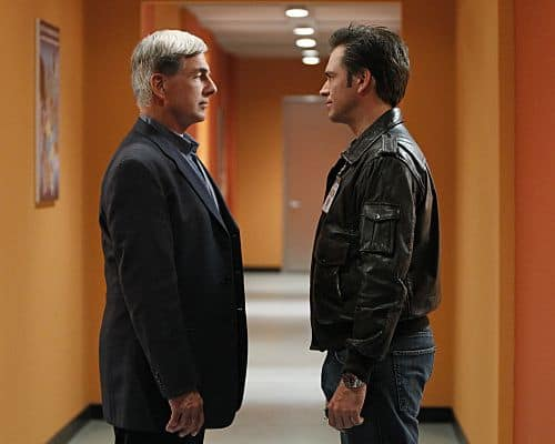 """Baltimore"" - After Tony's (Michael Weatherly, right) ex-partner, Danny Price, appears to be the Port-to-Port Killer's latest victim, he revisits his days as a detective in Baltimore, including his first encounter with Gibbs (Mark Harmon, left), on NCIS, Tuesday, May 3 (8:00-9:00 PM, ET/PT) on the CBS Television Network. Scott Grimes (""ER"") guest stars as Detective Danny Price, Tony's former partner. Photo: Monty Brinton/CBS ©2011 CBS Broadcasting Inc. All Rights Reserved"