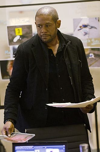 """Death by a Thousand Cuts"" -- Cooper (Forest Whitaker) and the red cell team track a serial killer who is randomly shooting people in crowded areas. Also, Beth's life is put in peril when she and Prophet go undercover, on the first season finale of CRIMINAL MINDS: SUSPECT BEHAVIOR, Wednesday, May 25 (10:00-11:00 PM, ET/PT) on the CBS Television Network. Photo: Randy Tepper/CBS ©2011 CBS Broadcasting Inc. All Right Reserved."