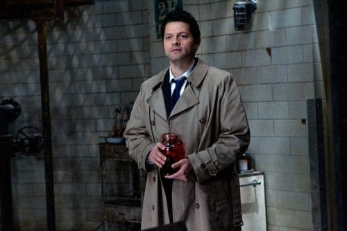 """""""The Man Who Knew Too Much"""" - Misha Collins as Castiel in SUPERNATURAL on The CW. Photo: Jack Rowand/The CW ©2011 The CW Network, LLC. All Rights Reserved."""