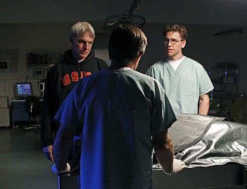"""Pyramid"" -- The lives of NCIS members are in jeopardy when they come face-to-face with the infamous Port-to-Port killer, on the eighth season finale of NCIS, Tuesday, May 17 (8:00-9:00 PM, ET/PT) on the CBS Television Network. Pictured left to right: Mark Harmon and Brian Dietzen Photo: Sonja Flemming/CBS ©2011 CBS Broadcasting Inc. All Rights Reserved"