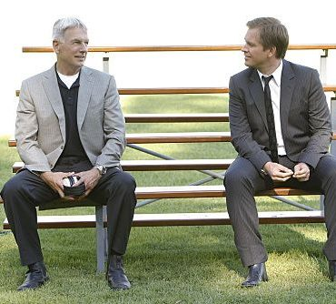 """Nature of the Beast"" -- After spending months tracking down his target, Tony (Michael Weatherly, right) is left with the blood of an NCIS agent on his hands and it's up to Gibbs (Mark Harmon, left) to help him put the pieces of the puzzle together, on the ninth season premiere of NCIS, Tuesday, Sept. 20 (8:00-9:00 PM, ET/PT) on the CBS Television Network. Photo: Sonja Flemming/CBS ©2011 CBS Broadcasting Inc. All Rights Reserved"