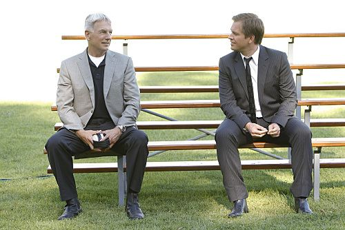 """""""Nature of the Beast"""" -- After spending months tracking down his target, Tony (Michael Weatherly, right) is left with the blood of an NCIS agent on his hands and it's up to Gibbs (Mark Harmon, left) to help him put the pieces of the puzzle together, on the ninth season premiere of NCIS, Tuesday, Sept. 20 (8:00-9:00 PM, ET/PT) on the CBS Television Network. Photo: Sonja Flemming/CBS ©2011 CBS Broadcasting Inc. All Rights Reserved"""