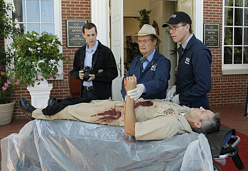 """""""Nature of the Beast"""" -- After spending months tracking down his target, Tony is left with the blood of an NCIS agent on his hands and it's up to Gibbs to help him put the pieces of the puzzle together, on the ninth season premiere of NCIS, Tuesday, Sept. 20 (8:00-9:00 PM, ET/PT) on the CBS Television Network. Pictured left to right: Sean Murray, David McCallum and Brian Dietzen Photo: Sonja Flemming/CBS ©2011 CBS Broadcasting Inc. All Rights Reserved"""