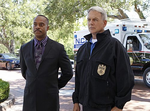 """""""Nature of the Beast"""" -- After spending months tracking down his target, Tony is left with the blood of an NCIS agent on his hands and it's up to Gibbs (Mark Harmon, right)  to help him put the pieces of the puzzle together, on the ninth season premiere of NCIS, Tuesday, Sept. 20 (8:00-9:00 PM, ET/PT) on the CBS Television Network. Also pictured: Rocky Carroll, left  Photo: Sonja Flemming/CBS ©2011 CBS Broadcasting Inc. All Rights Reserved"""