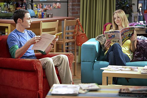 """The Infestation Hypothesis"" -- A fight between Sheldon (Jim Parsons, left) and Penny (Kaley Cuoco, right) leaves Amy caught in the middle, while Leonard tries to spice up his long-distance relationship with Priya, on THE BIG BANG THEORY, at a special time, Thursday Sept. 22 (8:30-9:00 PM, ET/PT) on the CBS Television Network."