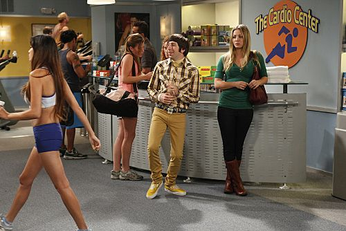 """""""The Wiggly Finger Catalyst"""" -- Penny (Kaley Cuoco, right) finds the perfect girl for Raj, on THE BIG BANG THEORY, Thursday, October 6 (8:00 - 8:31 PM, ET/PT) on the CBS Television Network. Also pictured: Simon Helberg, left. Photo: Greg Gayne/Warner Bros. ©2011 Warner Bros. Television. All Rights Reserved."""