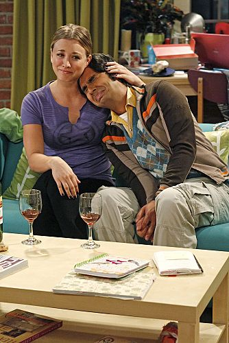 """""""The Wiggly Finger Catalyst"""" -- Penny (Kaley Cuoco, left) finds the perfect girl for Raj (Kunal Nayyar, right), on THE BIG BANG THEORY, Thursday, October 6 (8:00 - 8:31 PM, ET/PT) on the CBS Television Network."""