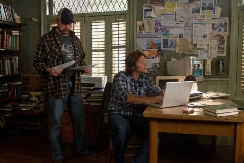 """Hello, Cruel World"" -(L-R): Jim Beaver as Bobby Singer and Jared Padalecki as Sam Winchester  in SUPERNATURAL on The CW. Photo: Jack Rowand/The CW©2011 The CW Network, LLC. All Rights Reserved."