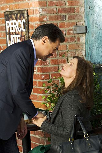 """""""From Childhood's Hour"""" -- Rossi (Joe Mantegna) reconnects with his first wife (guest star Isabella Hoffman), who has shocking news for him, on CRIMINAL MINDS, Wednesday, Oct. 19 (9:00-10:00 PM, ET/PT) on the CBS Television Network.  #CriminalMinds Photo: MONTY BRINTON/CBS ©2011 CBS BROADCASTING INC. All Rights Reserved."""