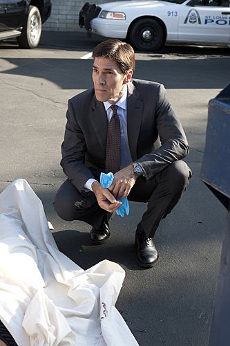 """""""From Childhood's Hour"""" -- Hotch (Thomas Gibson) and the BAU team investigate abductions of young children in St. Louis whose one commonality is that they have troubled mothers, on CRIMINAL MINDS Wednesday, Oct. 19 (9:00-10:00 PM, ET/PT) on the CBS Television Network. #CriminalMinds Photo: MONTY BRINTON/CBS ©2011 CBS BROADCASTING INC. All Rights Reserved."""