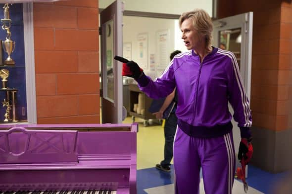 """GLEE:  Sue (Jane Lynch)  in """"The Purple Piano Project"""" the season  three premiere episode of GLEE airing Tuesday, Sept. 20 (8:00-9:00 PM ET/PT) on FOX. ©2011 Fox Broadcasting Co. Cr: Adam Rose/FOX"""