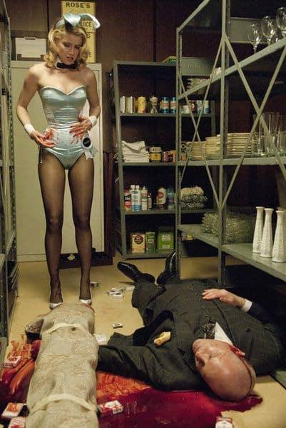 HE PLAYBOY CLUB -- Pilot Episode -- Pictured: (l-r) Amber Heard as Maureen, Randy Steinmeyer as Clyde Hill -- Photo by: Matt Dinerstein/NBC