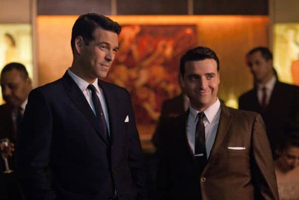 THE PLAYBOY CLUB -- Pilot Episode -- Pictured: (l-r) Eddie Cibrian as Nick, David Krumholtz as Billy -- Photo by: Matt Dinerstein/NBC