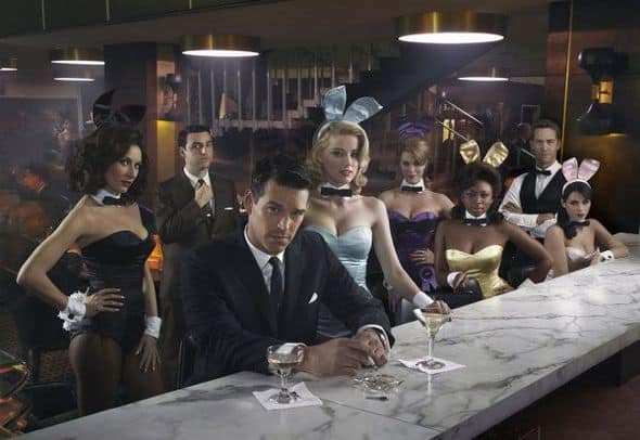 THE PLAYBOY CLUB -- Season: Pilot -- Pictured: (l-r) Laura Benanti as Carol-Lynne, David Krumholtz as Billy, Eddie Cibrian as Nick, Amber Heard as Maureen, Leah Renee as Alice, Naturi Naughton as Brenda, Wes Ramsey as Max -- Photo by: John Russo/NBC
