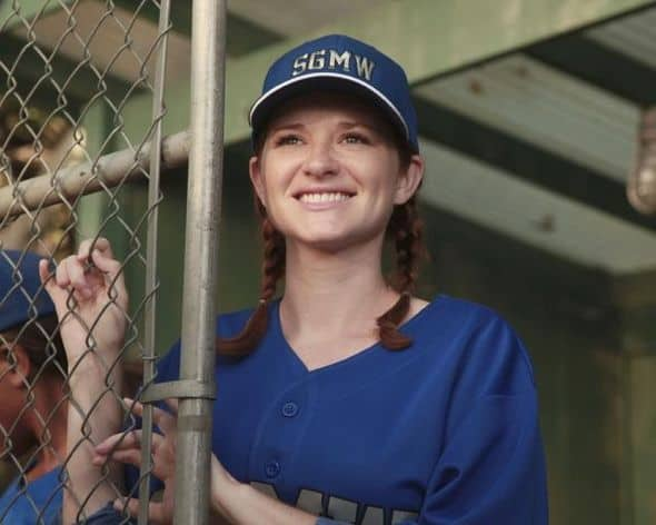 "GREY'S ANATOMY - ""Put Me In, Coach"" - Owen stresses teamwork and moves his leadership role over to the baseball field when he signs the doctors up for a baseball league, pitting them against their biggest competition, Seattle Presbyterian; Lexie tries to hide her jealous rage when she sees Mark with a new woman, but her emotions get the better of her; Alex fights to keep Zola at Seattle Grace after it is suggested that she be moved to another hospital due to a conflict of interest with Meredith and Derek; and Richard scolds Meredith and Bailey for their feud, on Grey's Anatomy, THURSDAY, OCTOBER 27 (9:00-10:02 p.m., ET) on the ABC Television Network. (ABC/RICHARD CARTWRIGHT) CHYLER LEIGH"