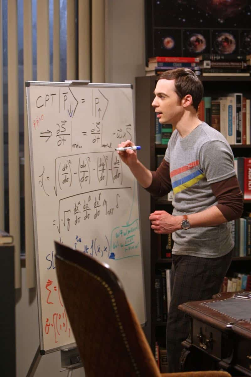 """""""The Good Guy Fluctuation"""" -- A cute comic book artist puts Leonard and Priya's relationship to the test, while Sheldon (Jim Parsons) tries to scare the guys for Halloween, on THE BIG BANG THEORY, Thursday Oct. 27 (8:00 - 8:31 PM, ET/PT) on the CBS Television Network.   Photo: Monty Brinton/CBS ©2011 CBS Broadcasting Inc. All Rights Reserved"""