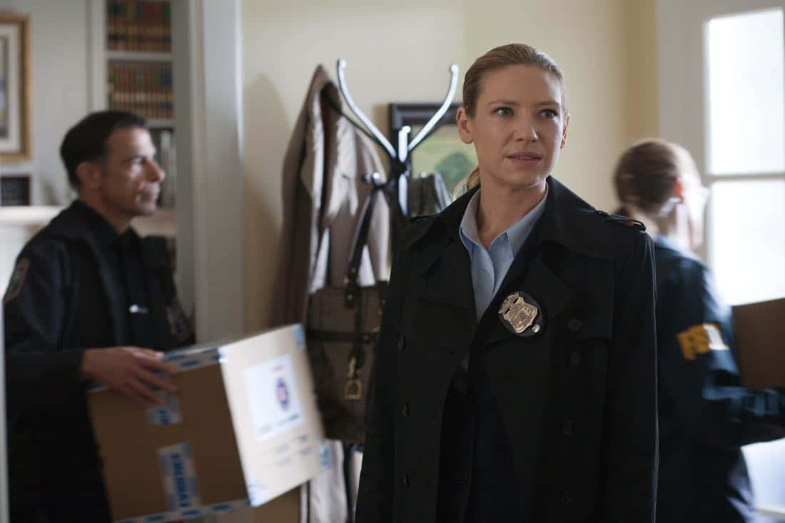 "FRINGE: Olivia (Anna Torv) investigates a bizarre scene in the ""And Those We've Left Behind"" episode of Fringe airing Friday, Nov. 11 (9:00-10:00 PM ET/PT) on FOX. ©2011 Fox Broadcasting Co. CR: Liane Hentscher/FOX"