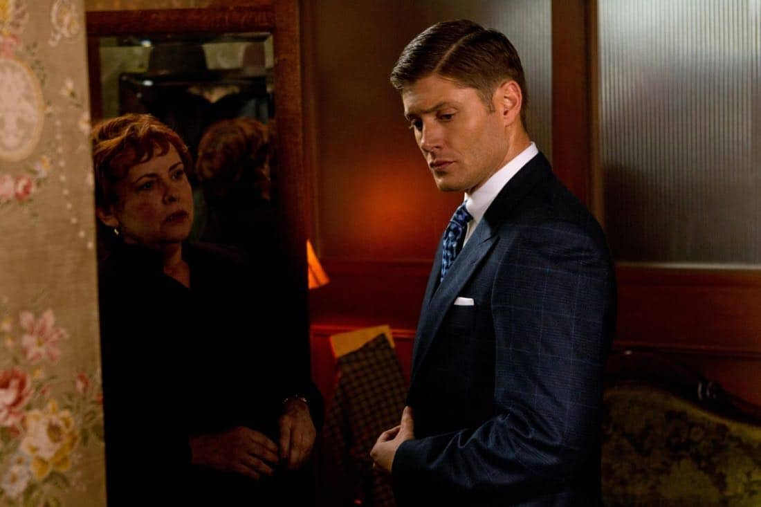 """""""Time After Time"""" - (l-r): Catherine Barroll as Dr. Terry Cervantes, Jensen Ackles as Dean in SUPERNATURAL on The CW. Photo: Jack Rowand/The CW©2012 The CW Network, LLC. All Rights Reserved."""