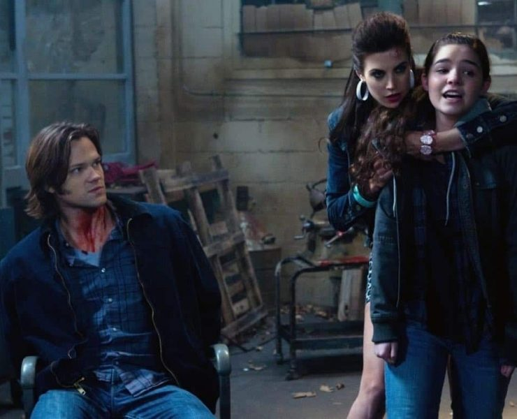 """Adventures in Babysitting"" - (l-r): Jared Padalecki as Sam, Meghan Ory as Sally, Madison Mclaughlin as Krissy in SUPERNATURAL on The CW. Photo: Jack Rowand/The CW©2011 The CW Network, LLC. All Rights Reserved."