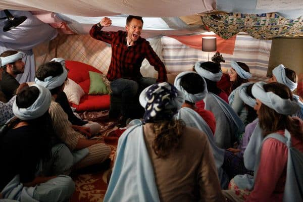 "COMMUNITY -- ""Pillows and Blankets"" Episode 314 -- Pictured: Joel McHale as Jeff -- Photo by: Tyler Golden/NBC"