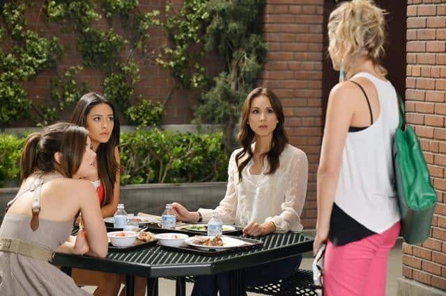 "PRETTY LITTLE LIARS - ""It Happened 'That Night"" - Coming up on the second anniversary of Alison's disappearance, Aria, Emily, Hanna and Spencer are thrown back into turmoil after one shocking night in ""It Happened 'That Night',"" the season three premiere of ABC Family's hit original series ""Pretty Little Liars,"" premiering Tuesday, June 5th (8:00 - 9:00 PM ET/PT). (ABC FAMILY/ERIC MCCANDLESS) LUCY HALE, SHAY MITCHELL, TROIAN BELLISARIO"