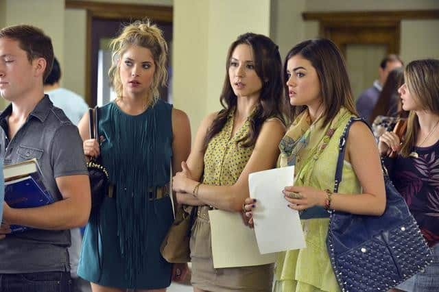 "PRETTY LITTLE LIARS - ""It Happened 'That Night"" - Coming up on the second anniversary of Alison's disappearance, Aria, Emily, Hanna and Spencer are thrown back into turmoil after one shocking night in ""It Happened 'That Night',"" the season three premiere of ABC Family's hit original series ""Pretty Little Liars,"" premiering Tuesday, June 5th (8:00 - 9:00 PM ET/PT). (ABC FAMILY/ERIC MCCANDLESS) ASHLEY BENSON, TROIAN BELLISARIO, LUCY HALE"