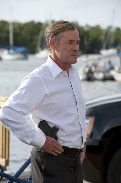 "BURN NOTICE -- ""Mixed Messages"" Episode 601 -- Pictured: John C. McGinley as Card -- (Photo by Glenn Watson/USA Network)"