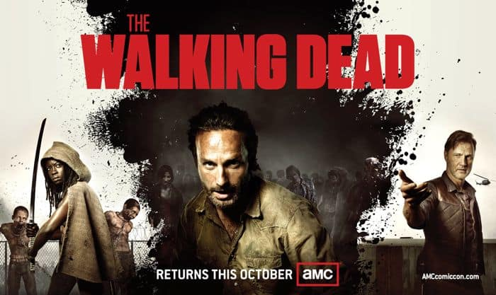 The Walking Dead Comic Con Poster 2012