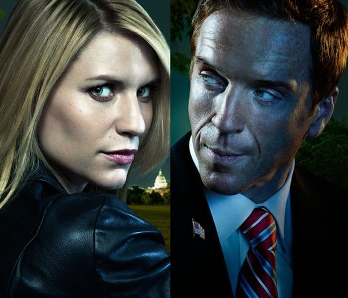 Homeland Season 2 Poster Showtime Claire Danes and Damian Lewis