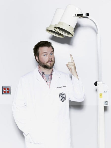 ANIMAL PRACTICE -- Season: 1 -- Pictured: Tyler Labine as Dr. Doug Jackson -- (Photo by: Robert Trachtenberg/NBC)