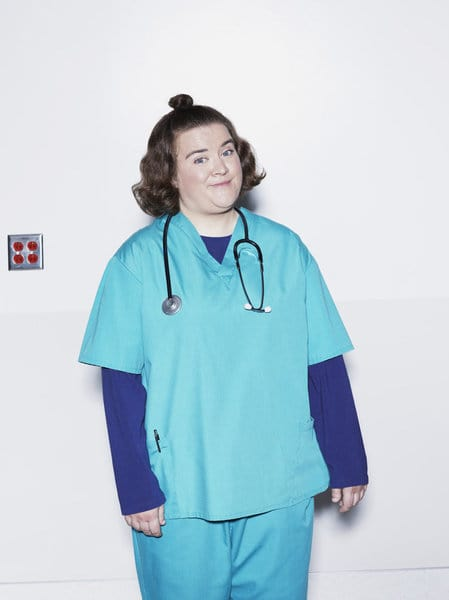 ANIMAL PRACTICE -- Season: 1 -- Pictured: Betsy Sodaro as Nurse Angela -- (Photo by: Robert Trachtenberg/NBC)