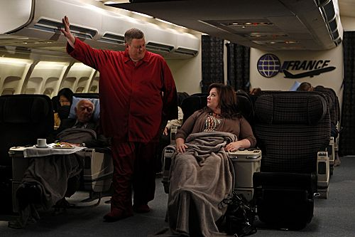 """The Honeymoon Is Over"" -- Mike (Billy Gardell) and Molly (Melissa McCarthy) talk about what life will be like after their honeymoon. Photo: Monty Brinton/CBS ©2012 CBS Broadcasting, Inc. All Rights Reserved."