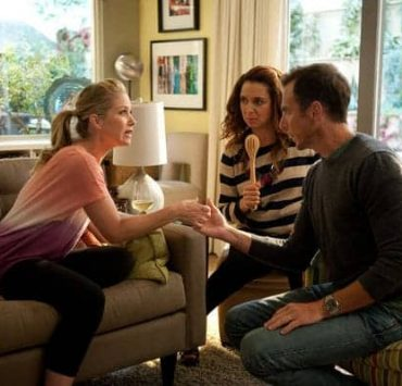 """UP ALL NIGHT -- """"Friendships and Partnerships"""" Episode 201 -- Pictured: (l-r) Christina Applegate as Reagan Brinkley, Maya Rudolph as Ava Alexander, Will Arnett as Chris -- (Photo by: Colleen Hayes/NBC)"""