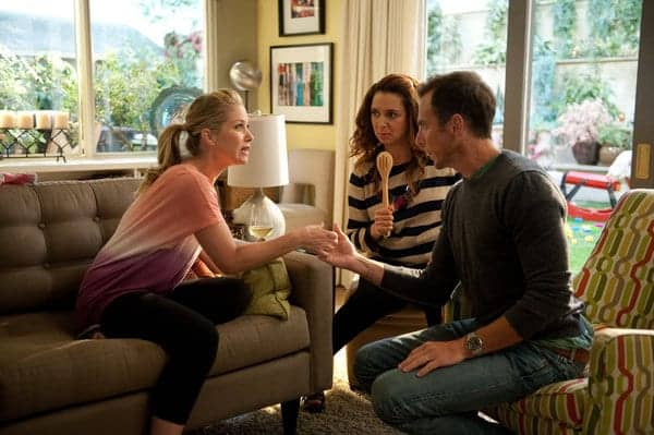 "UP ALL NIGHT -- ""Friendships and Partnerships"" Episode 201 -- Pictured: (l-r) Christina Applegate as Reagan Brinkley, Maya Rudolph as Ava Alexander, Will Arnett as Chris -- (Photo by: Colleen Hayes/NBC)"