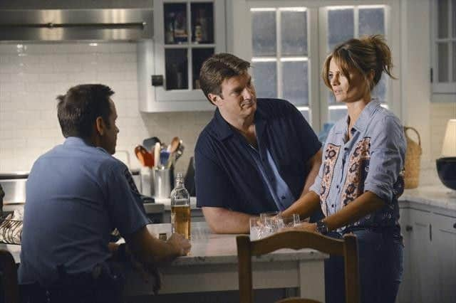 DAVID BURKE, NATHAN FILLION, STANA KATIC