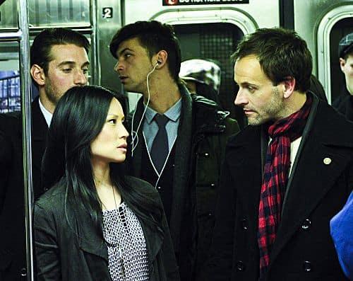Jonny Lee Miller as detective Sherlock Holmes and Lucy Liu
