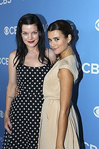 Pictured (l-r); Pauley Perrette and Cote De Pablo of NCIS. Stars from CBS' new and returning shows celebrate the new television season at the CBS 2012 Fall Premiere Party, Tuesday, Sept.17 at Greystone Manor in Los Angeles, Ca. Photo: Monty Brinton/CBS √?¬©2012 CBS Broadcasting Inc. All Rights Reserved.