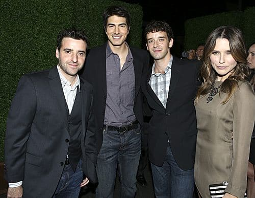 Pictured (l-r); David Krumholtz; Brandon Routh; Michael Urie; and Sophia Bush of PARTNERS. Stars from CBS' new and returning shows celebrate the new television season at the CBS 2012 Fall Premiere Party, Tuesday, Sept.17 at Greystone Manor in Los Angeles, Ca. Photo: Monty Brinton/CBS ©2012 CBS Broadcasting Inc. All Rights Reserved.