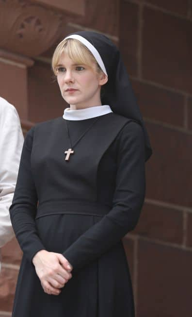 AMERICAN HORROR STORY Welcome to Briarcliff -- Episode 201 (Season Premiere, Wednesday, October 17, 10:00 pm e/p) -- Pictured: Lily Rabe as Sister Eunice -- CR: Michael Yarish/FX