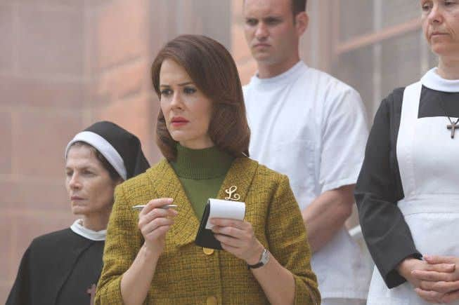 AMERICAN HORROR STORY Welcome to Briarcliff -- Episode 201 (Season Premiere, Wednesday, October 17, 10:00 pm e/p) -- Pictured: Sarah Paulson as Lana -- CR: Michael Yarish/FX