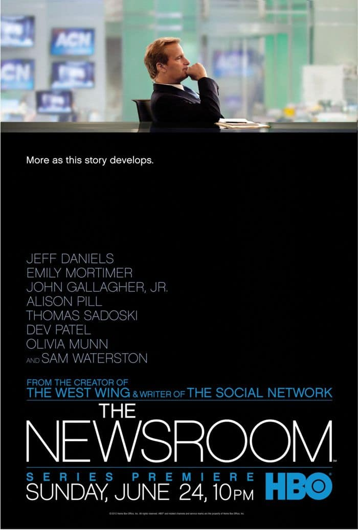 The Newsroom Poster HBO
