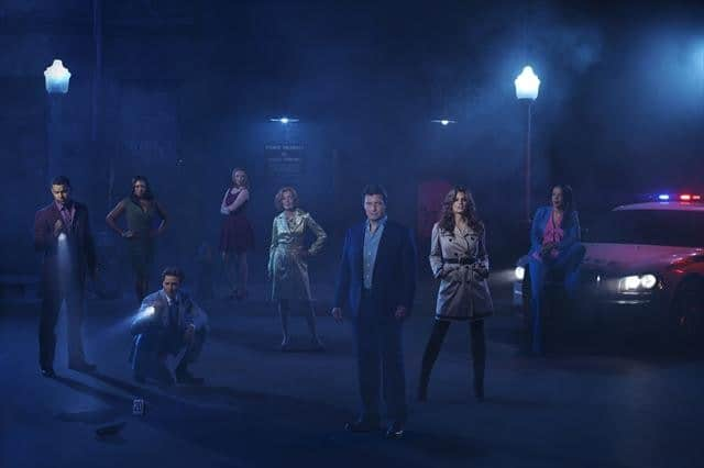 JON HUERTAS, TAMALA JONES, SEAMUS DEVER, MOLLY QUINN, SUSAN SULLIVAN, NATHAN FILLION, STANA KATIC, PENNY JOHNSON JERALD
