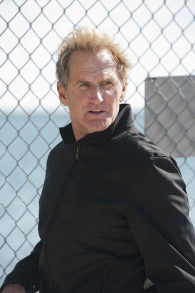 "BURN NOTICE -- ""Scorched Earth"" Episode 602 -- Pictured: Jere Burns as Anson Fullerton -- (Photo by Glenn Watson/USA Network)"