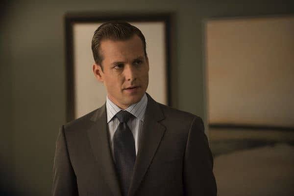 "SUITS -- Episode 208 ""Rewind"" -- Pictured: Gabriel Macht as Harvey Specter -- (Photo by: Christos Kalohoridis/USA Network)"