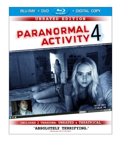 PARANORMAL ACTIVITY 4 DVD And BLURAY