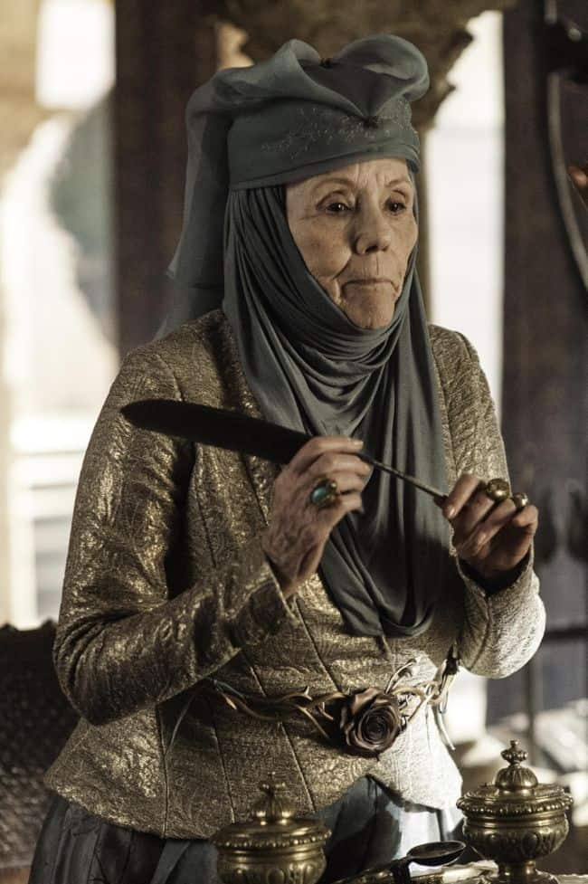 Dianna Rigg as Olenna Tyrell Game Of Thrones Season 3 Cast