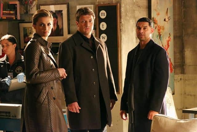 Castle Season 5 Episode 17 STANA KATIC, NATHAN FILLION, JON HUERTAS