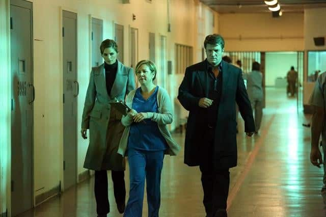 Castle Season 5 Episode 17 STANA KATIC, ROMY ROSEMONT, NATHAN FILLION